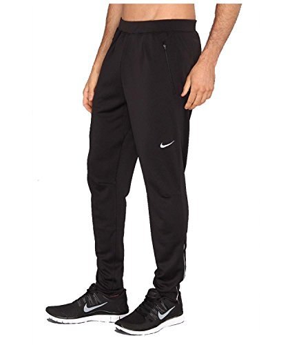 Nike Mens Dri-Fit Running Track Pants-Black-Medium