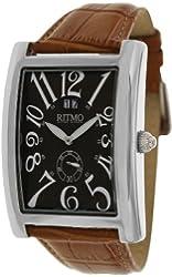 Ritmo Mundo Men's 621/7 Brown Leather Analog Quartz Watch with Grey Dial