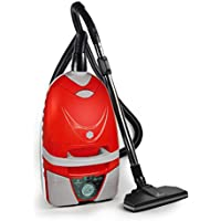 Lindhaus Aria Red Multifuntion Canister Vacuum Cleaner with Turbo Brush and Hard Floor Tool