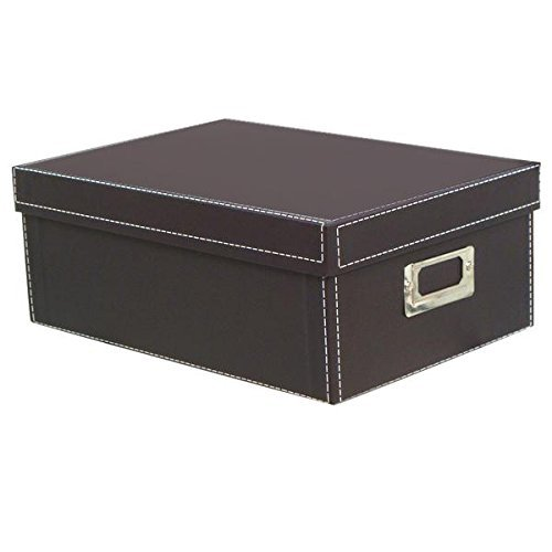 Albums Photo Dvd (KVD Kleer-Vu Deluxe Albums Inc. Photo Box Collection, Photo Storage Boxes, For Photos, DVDs, CDs & Negatives, Brown)