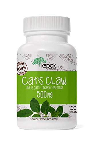 Kapok Naturals Uña de Gato or Cats Claw Capsules. 500mg Cats Claw Herb for Joint Inflammation, Joint Pain Relief and Digestive Support. 100x500mg UNA de Gato Capsules