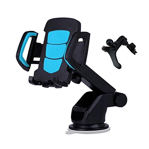 Kimitech Car Phone Mount, Cell Phone Holder with Suction Cup for Dashboard and Windshield Suitable for iPhone Android MP3/4 GPS and more Electronic devices Black (black)