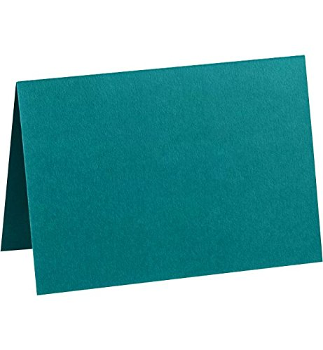 Correspondence Cards Casual (A6 Folded Card (4 5/8 x 6 1/4) - Teal (50Qty) | Perfect for Personal Stationery, Invitation Suite Inserts, Casual Correspondence and much more! | EX5030-25-50)