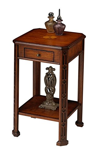 Offex Traditional Rectangular Accent Table Olive Ash Burl Light - Medium Brown (Ash Desk Burl)