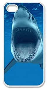 Sharksworld with White Skin Edges for Iphone 5 5s Case
