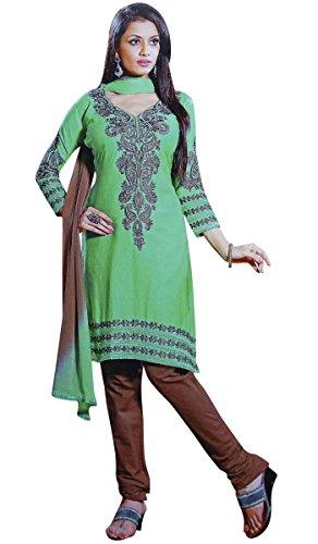 Indian-Wear-Salwar-Kameez-Cotton-Embroidered-Unstitched-Suit-Women-Dress