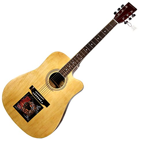 Five Finger Death Punch Signed X4 CD Flat On Acoustic Guitar UACC RD COA AFTAL ()