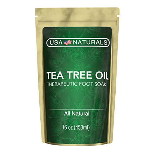 (Tea Tree Oil Foot Soak With Epsom Salt-Deep Tissue Therapy for Sore, Cracked Feet-Helps Fungal Nail Infection & Athletes Foot-Eight Essential Oils and Salts for Healthy, Soft Feet (Tea Tree Foot Soak))