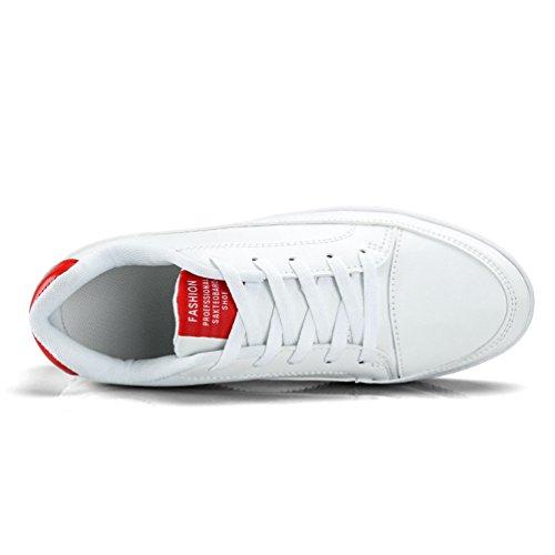 Scarpe Uomo Rosso Bianco XIGUAFR Stringate 6AwPCHCq
