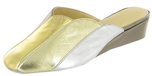 Cincasa Womens Menorca Madeira Mule Slippers Pewter