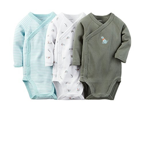 Carter's Baby Boys 3-Pack Side-Snap Bodysuits Blue Puppy NB