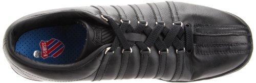 K-Swiss Classic 02248-101 - Zapatillas de cuero para hombre Black-Black