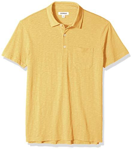 Goodthreads Men's Lightweight Slub Pocket Polo Shirt, gold, XX-Large (Big And Tall Polo Shirts With Pockets)