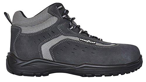 GOODYEAR g1388401C–Stivali in pelle crosta) colore: grigio, grigio, G1388401C