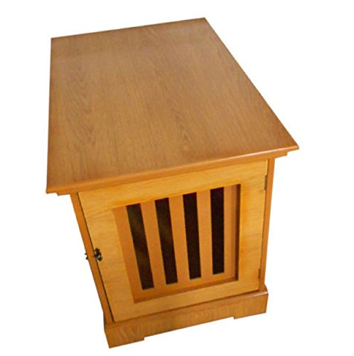NEW! Pet Chest Wood Bed Crate Pet Cage Wooden Furniture End Table (Natural Stationary Sofa)