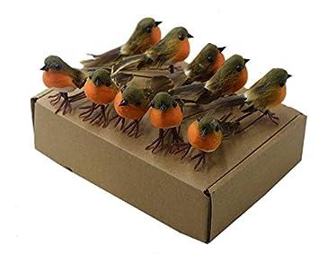 oiseau decoration noel 12 Robin oiseaux Arbre de Noël Décoration Craft très mignon  oiseau decoration noel