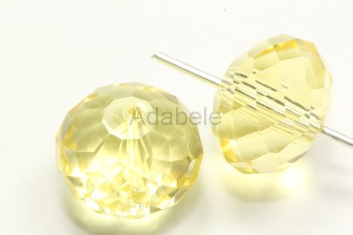 50 8x6mm Adabele Austrian Rondelle Crystal Beads Jonquil Alternative For Swarovski Preciosa Crystalized 5040 (8x6mm Oval Cabochon Earring)