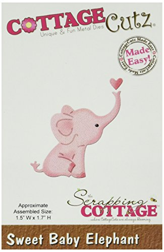 CottageCutz 1.5 by 1.7-Inch Die Cuts, Mini, Sweet Baby Elephant