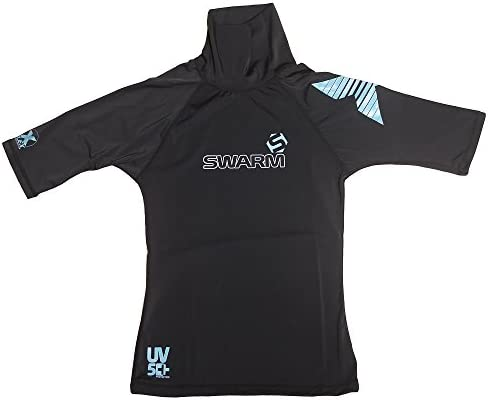 S=MED strong flatlock stitch Quality UV50+ Lycra Short Sleeve Rash Vest Guard