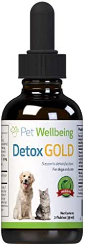 Pet Wellbeing Detox Gold for Dogs - Natural Support for Immune System Detox for Canines - 2oz (59ml)