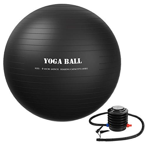 Homitt 65cm Exercise Ball, Anti Burst Stability Ball Non-Slip Yoga Ball