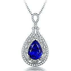 Diamond Studded Genuine Tanzanite Pendant