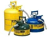 Justrite 7210220 Type 2 Diesel Can, 5/8in Hose, 1 Gal, Yellow
