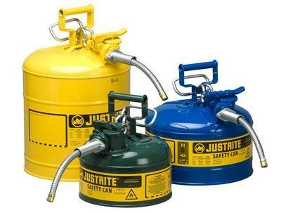 Justrite 7210220 Type 2 Diesel Can, 5/8in Hose, 1 Gal, Yellow