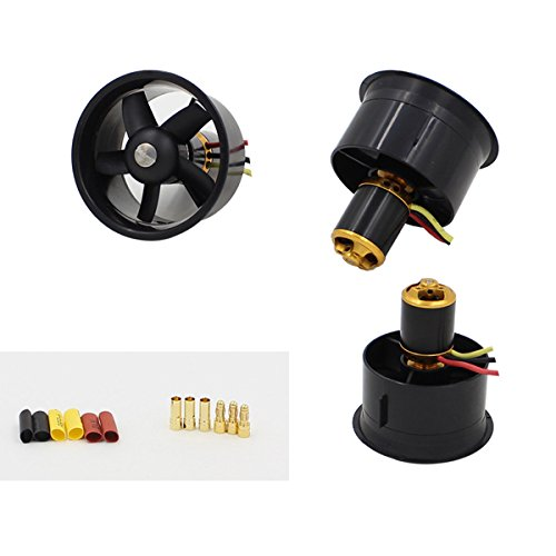 HITSAN QX-Motor 64mm 5 Blades Dual EDF Unit Without Motor For RC Airplane One Piece