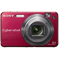 Sony Cybershot DSCW150/R 8.1MP Digital Camera with 5x Optical Zoom with Super Steady Shot (Red)