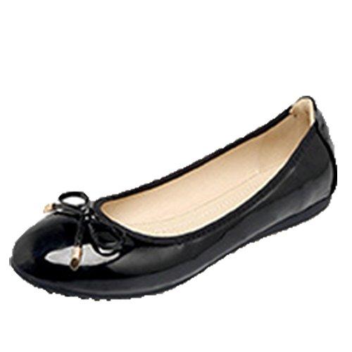 Opsun Women's Black Ballet Ballet Women's Opsun Flats ZFxRwq5C