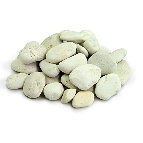 - Southwest Boulder & Stone Polynesian Pebble | 10 Pounds | Natural, Decorative Stones for Landscaping, Gardening, Potted Plants, and Terrariums (Ivory, 2 Inch - 3 Inch)