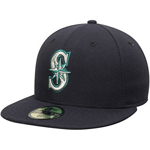 New Era Seattle Mariners MLB Authentic Collection 59FIFTY On Field Cap NewEra 59Fifty: 7 1/2