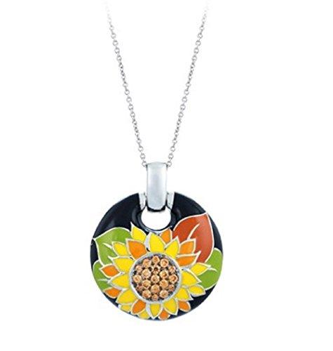 Belle Etoile: Sunflower Black Pendant (Etoile Pendant)