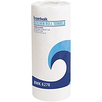 Boardwalk 6278 Perforated Paper Towel Rolls, 2-Ply, 11 x 8, White, 70 Sheets Per Roll (Case of 30 Rolls)