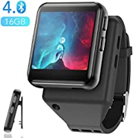 AGPTEK Clip MP3 Player with Bluetooth, 16GB Sport Bluetooth MP3 Watch for Running, Jogging, Cycling, Hiking Support FM...