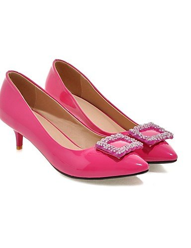 GGX/ Zapatos de mujer-Tacón Stiletto-Tacones-Tacones-Exterior / Oficina y Trabajo / Casual-Sintético-Negro / Rosa / Rojo / Blanco / Plata / , red-us7.5 / eu38 / uk5.5 / cn38 , red-us7.5 / eu38 / uk5.5 peach-us10.5 / eu42 / uk8.5 / cn43