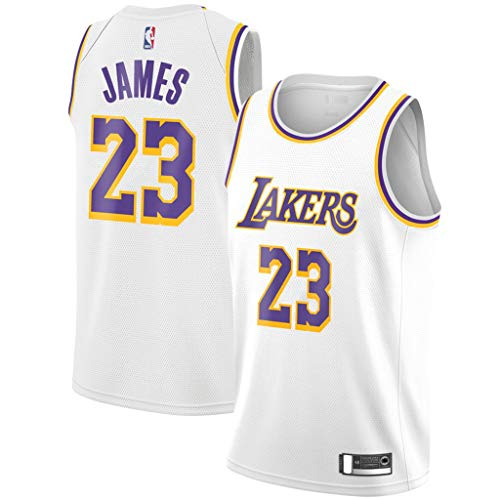 4f5d3e9c16d8 Mitchell   Ness Men s Los Angeles Lakers Lebron James Swingman Jersey  23  (White-2