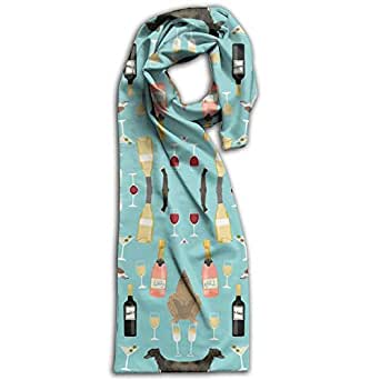 PIHJE Greyhounds and Wine Women's Winter Scarf Long Shawl