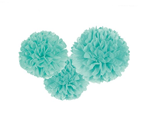 Amscan Fluffy Decorations - Robin's-Egg Blue