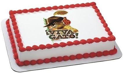 Amazon.com: El gato con botas Fiesta de cumpleaños de imagen ...
