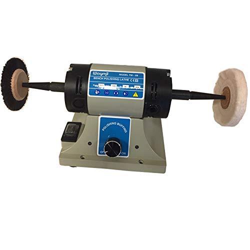 Jewelry Polishing Motot Compact Buffer Machine Lathe Benchtop Variable Speed by Waymil (Image #5)