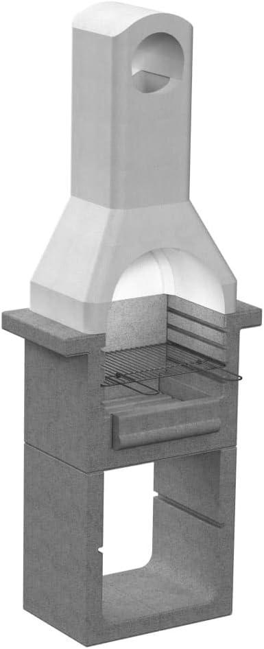 Tidyard - Soporte para barbacoa de carbón de madera, altura regulable en 4 posiciones de hormigón con chimenea: Amazon.es: Hogar