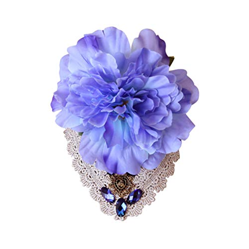 LURROSE Court retro tiara hairpin lace pearl small hat hairpin Woman Hair ()