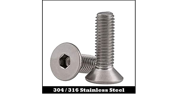 10 Pieces M8-1.25 x 40 Stainless Steel Flange Bolt DIN 6921 A2 Stainless Steel M8x40