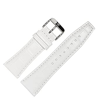 Tommy Hilfiger Leather Watch Band 24 mm White Replacement