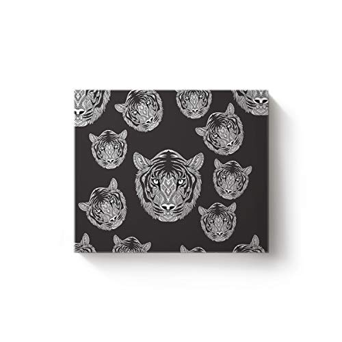 (Canvas Print Wall Art for Living Room Mandala Tiger Wall Art Pictures for Home Decor Stretched and Framed Ready to Hang 24