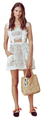 For Love & Lemons Women's Tati Pinafore Lace Dress, White, S by For Love & Lemons (Image #3)