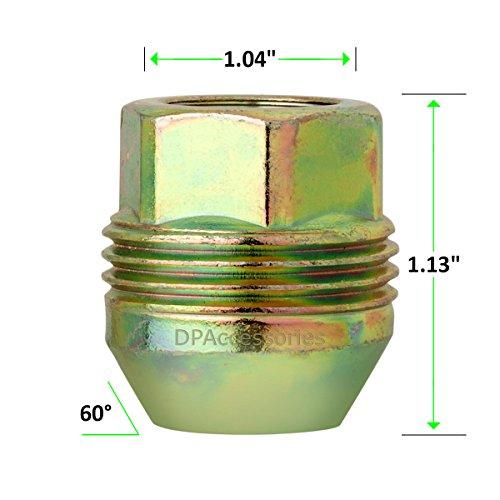 DPAccessories LOC2D8CZOGD05100 100 Dual Thread Wheel Lug Nuts M14x1.5 - Replaces Chevy/GMC # 9591772/99918.1 Wheel Lug Nut by DPAccessories (Image #3)