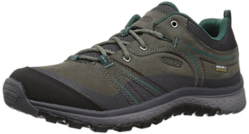 KEEN Women's Terradora Leather wp-w Hiking Shoe, Mushroom/Magnet, 7 M US